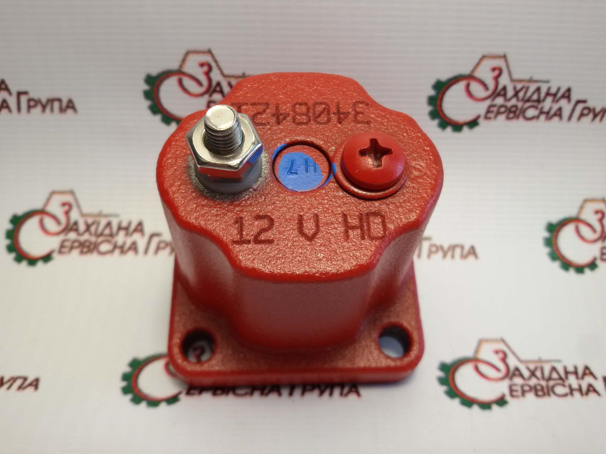 Соленоїд відсікання палива 12V Cummins ISX15, QSX15, 4024808, 3408421, 3054608, 209940.