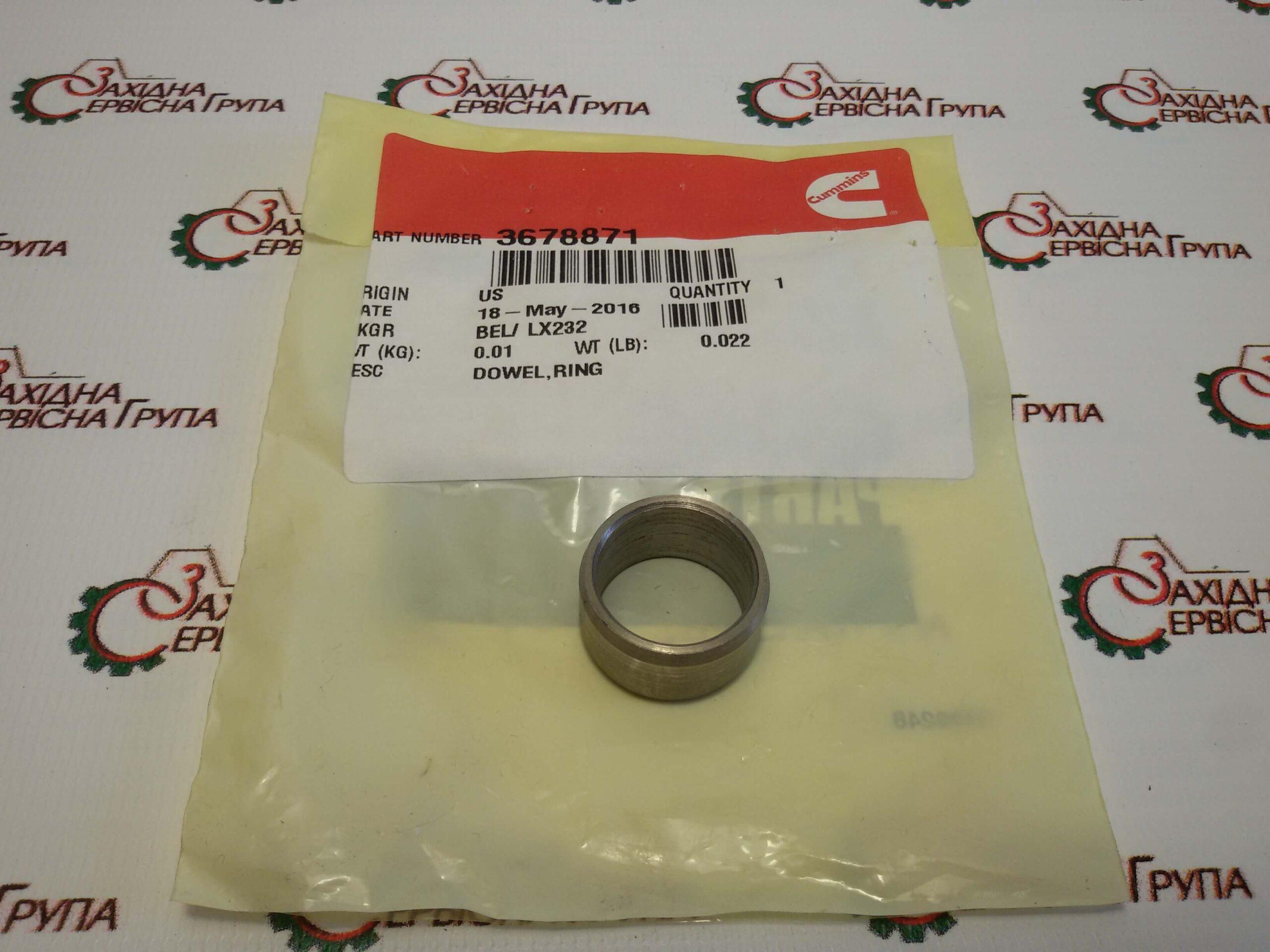 Штифт направляющий картера маховика Cummins ISX15, QSX15, 3678871.