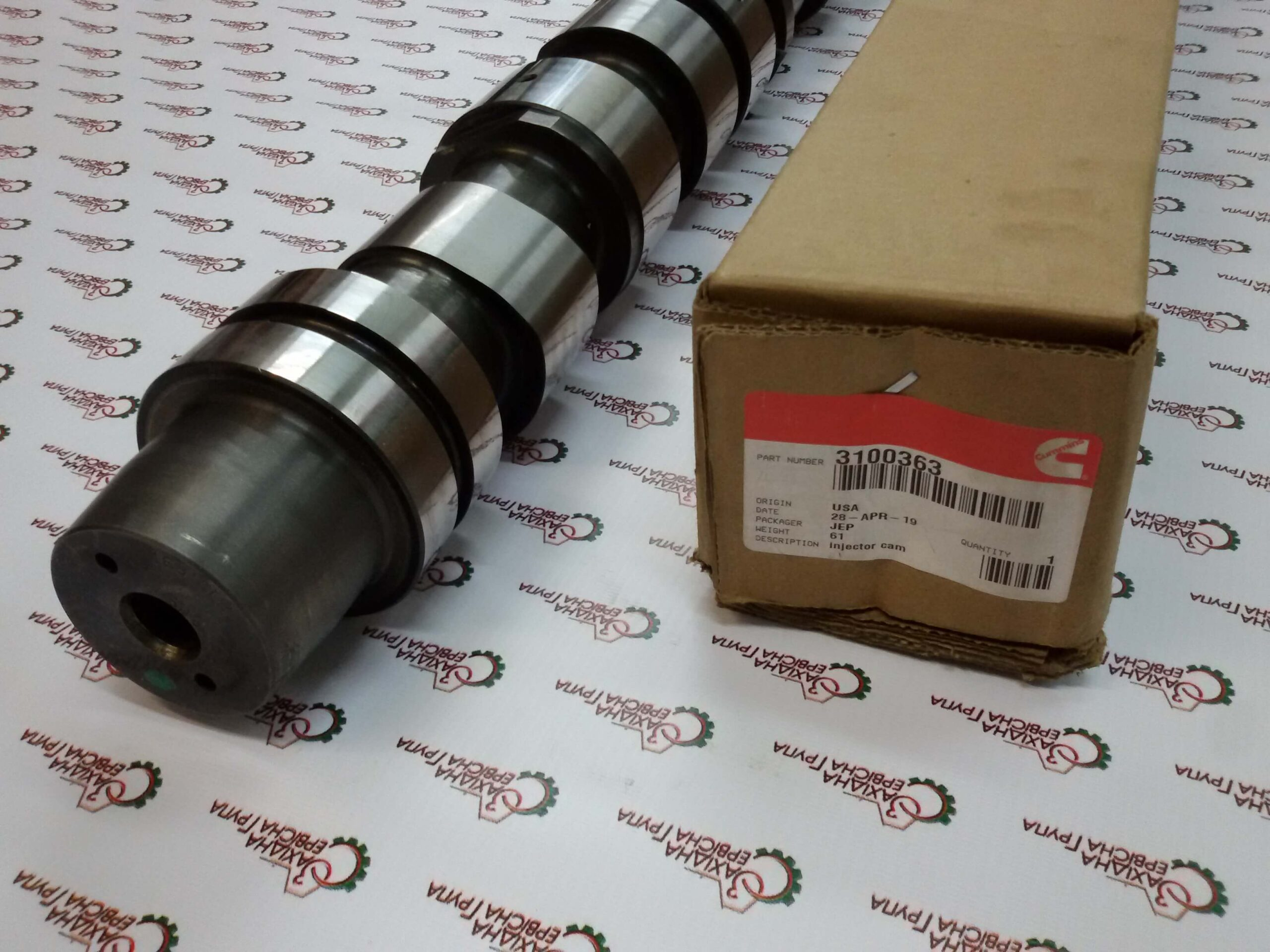 Вал распределительный топливных форсунок двигателя Cummins ISX15, QSX15, 3100363, 3100788.