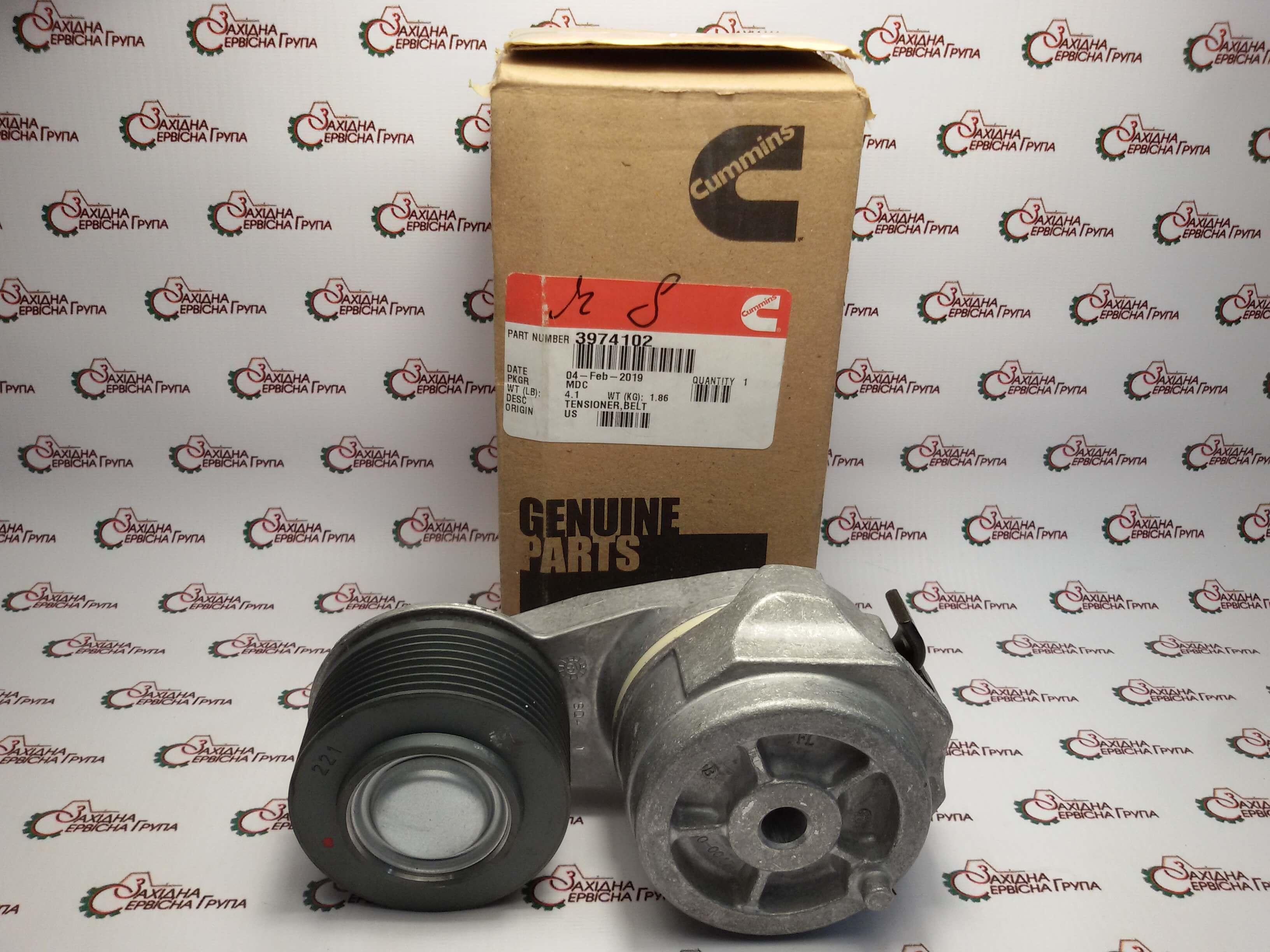Натяжитель ремня генератора Cummins QSL9, 3974102.