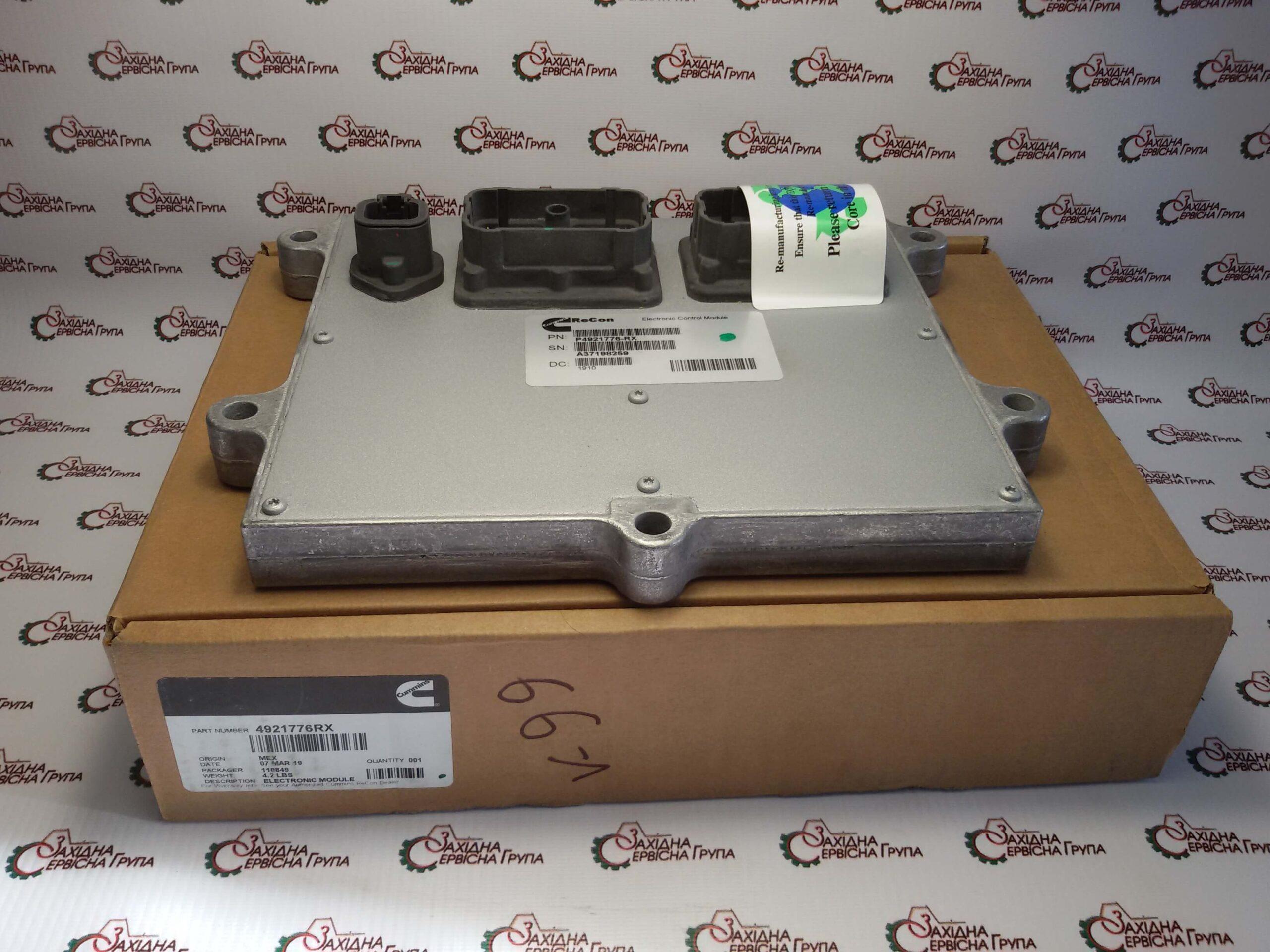 Модуль электронный управления двигателем Cummins QSB 6.7, QSL, 4921776, 4921776RX, 4921776NX.