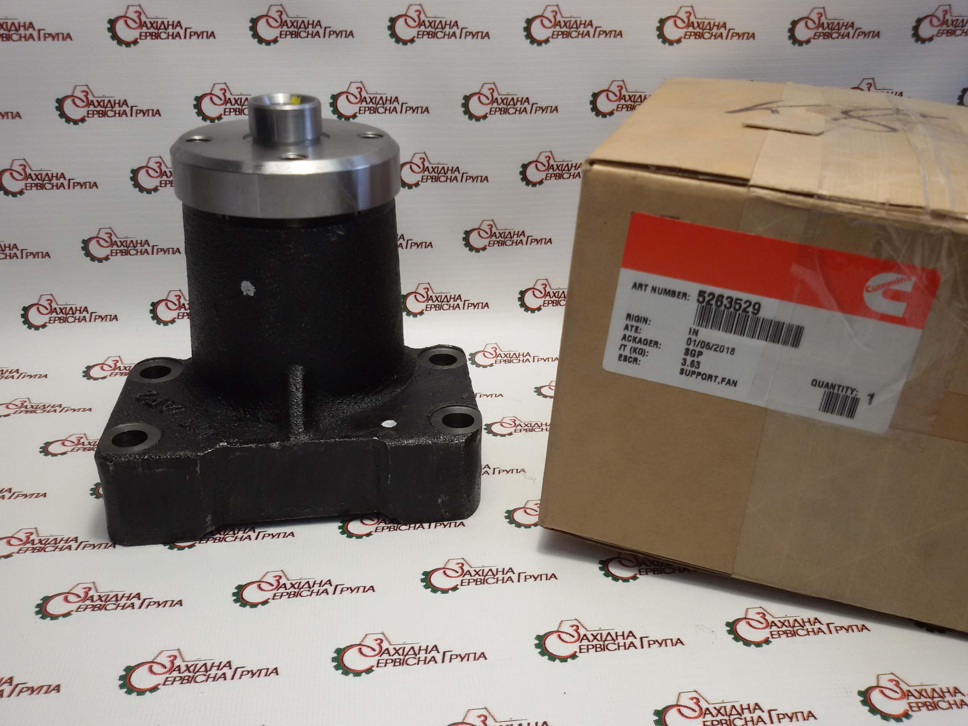 Опора вентилятора двигателя Cummins 6CT, QSC8.3, ISLe8.9, QSL9, 5263529, 3929458, 3910738, 3908817, 3942895, 3942896.