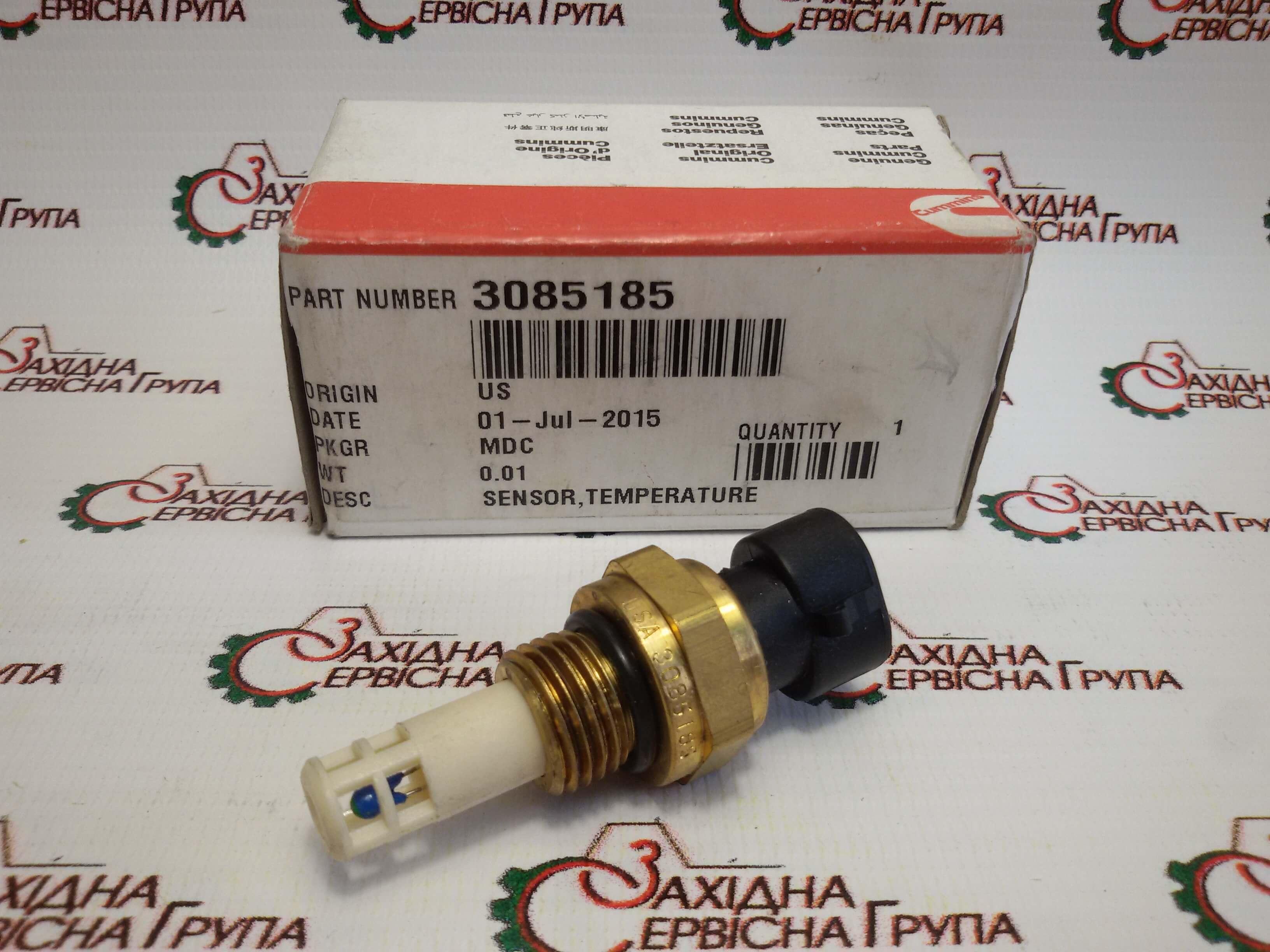 Датчик температури впускного повітря Cummins ISM11, QSM11, N14, 3085185.