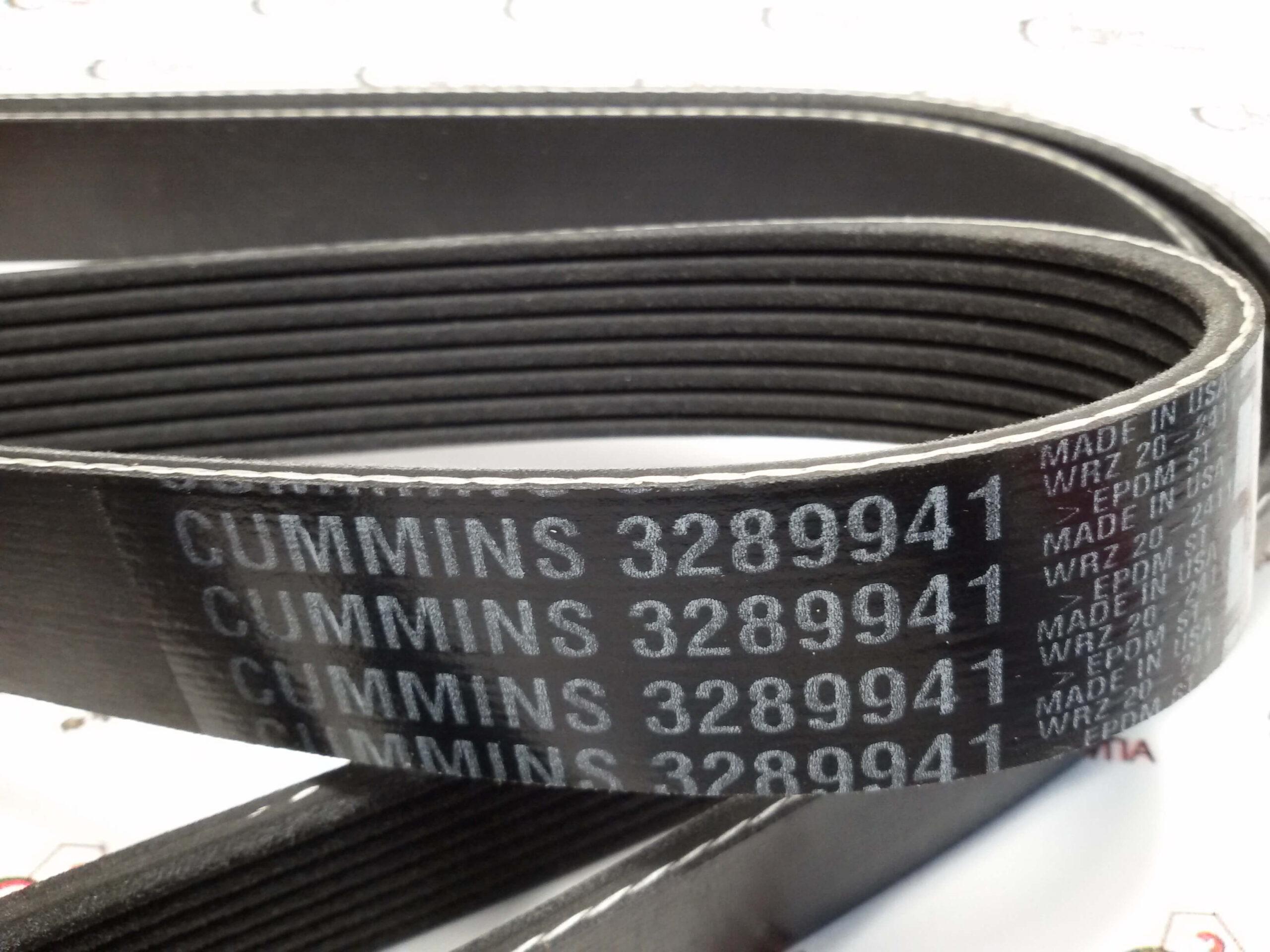 Ремень генератора и водяного насоса Cummins QSB 6.7, 3289941, 3955170.