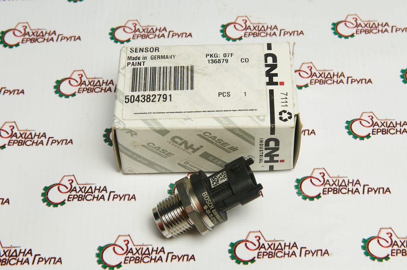Датчик тиску палива IVECO/FPT Cursor 9, 504382791, 504157020